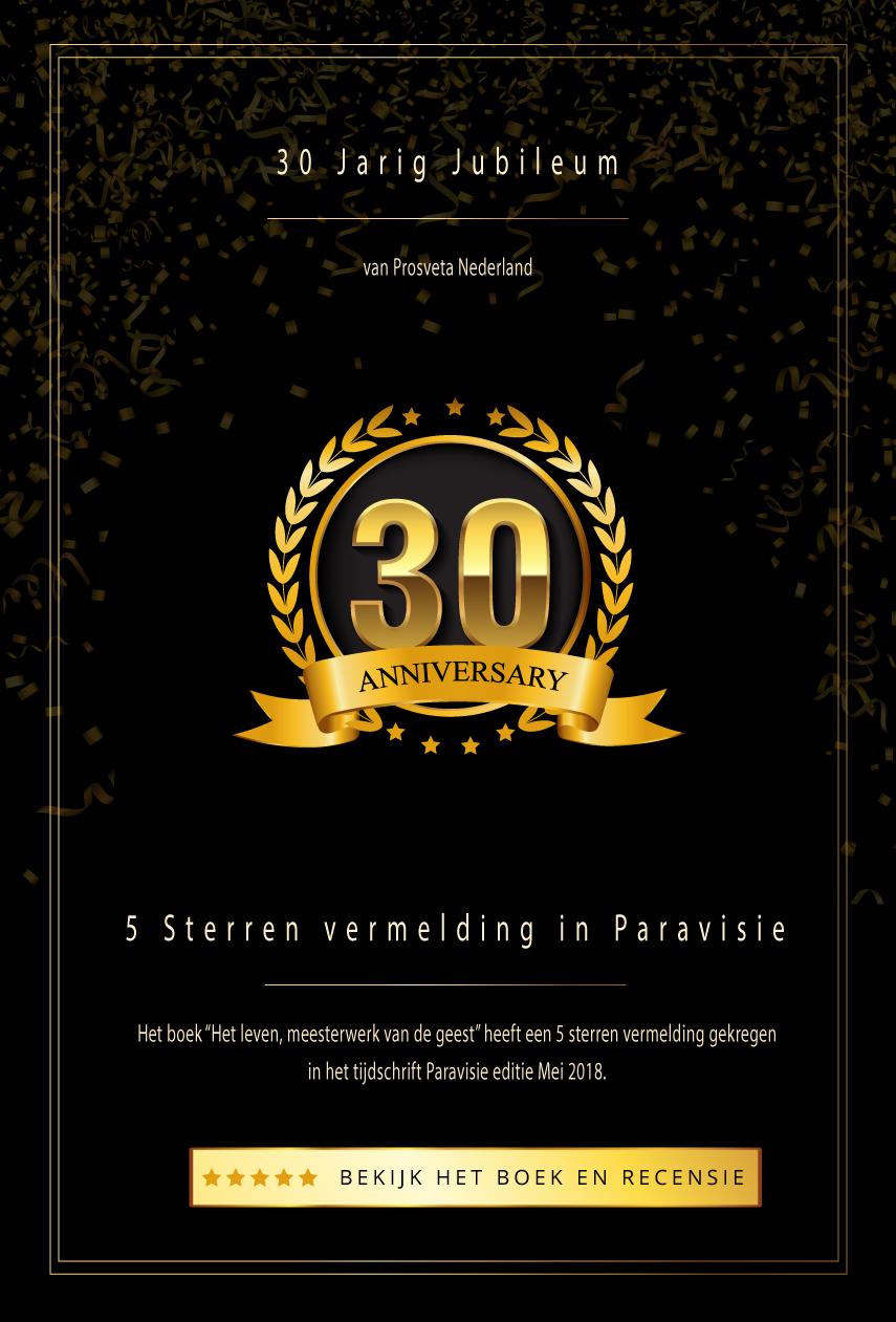 30 Jarig Jubileum van Prosveta Nederland en 5 Sterren vermelding in Paravisie